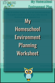My Homeschool Environment Planning Worksheet