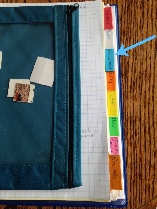 Encouragement Tab in Angie's Mom Binder - Simple Healthy Mom