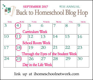 Back to Homeschool Blog Hop Sept 2017